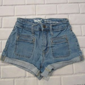 Mossimo High Rise Size 00 Stretch Jean Shorts